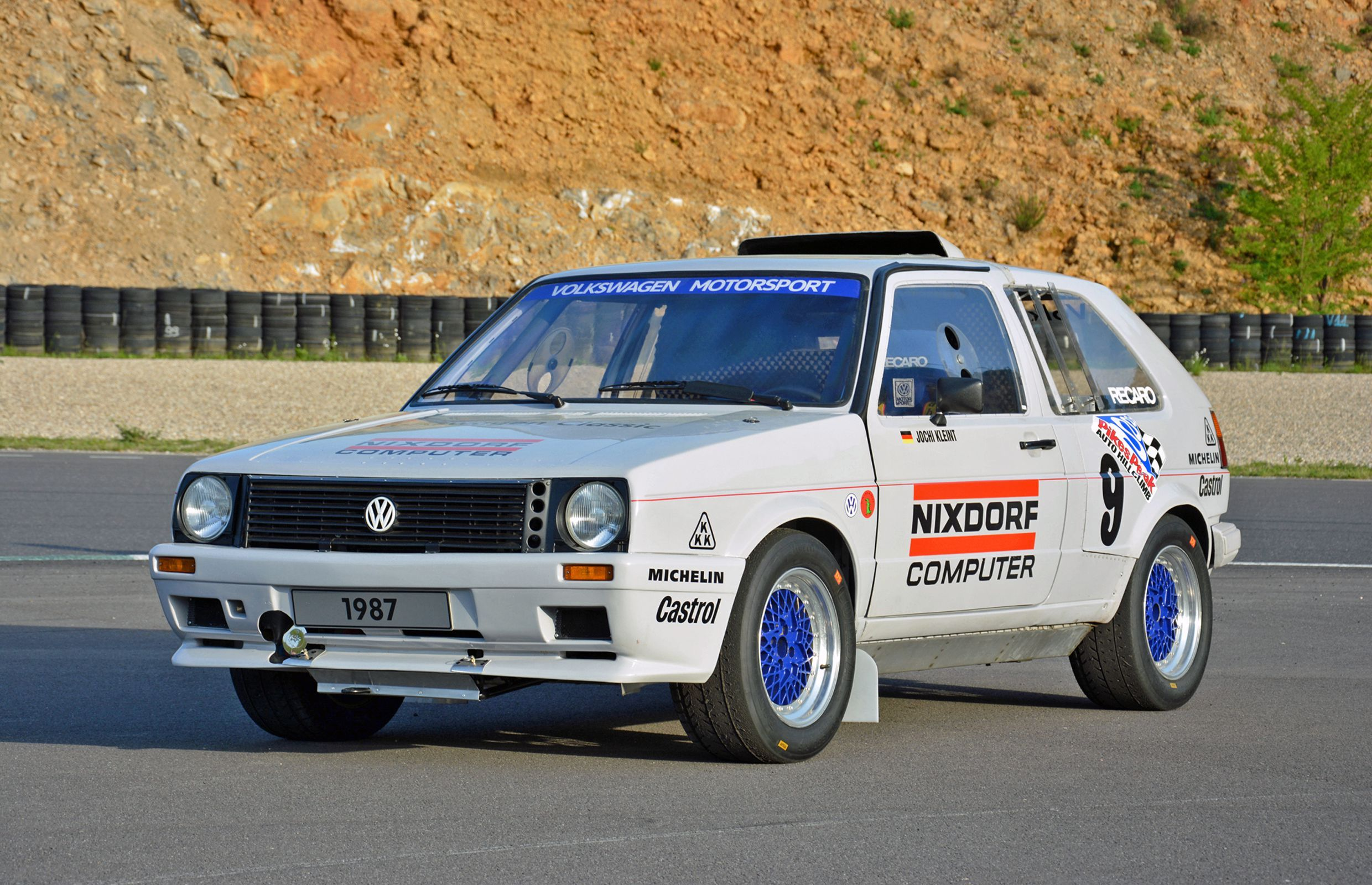 Rally Motor Credit >> Vintage Pikes Peak Vw Golf Was A 1980s Two Engine Monster Rally