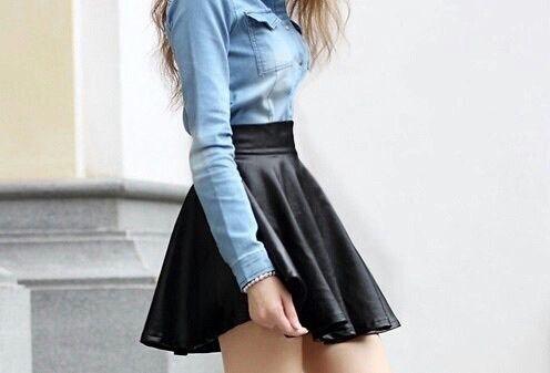 Outfits que una falda de vinipiel puede darte  1deab8c216d3