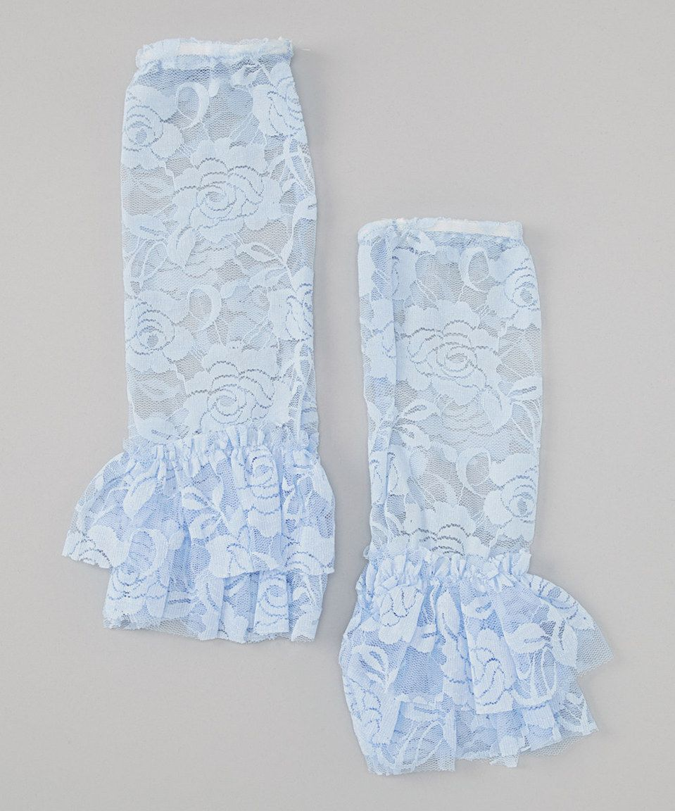 Love this Wenchoice Light Blue Lace Leg Warmers by Wenchoice on #zulily! #zulilyfinds