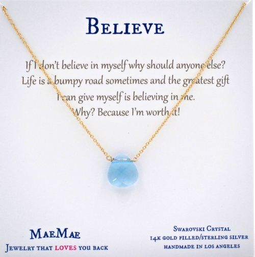 6b2c23d682576 Adorn yourself with this beautiful crystal charm necklace because ...