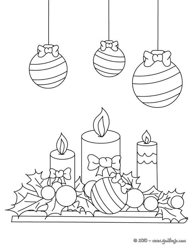 Dibujos para colorear velas navide as ii dibujos para - Dibujos navidenos para pintar en tela ...