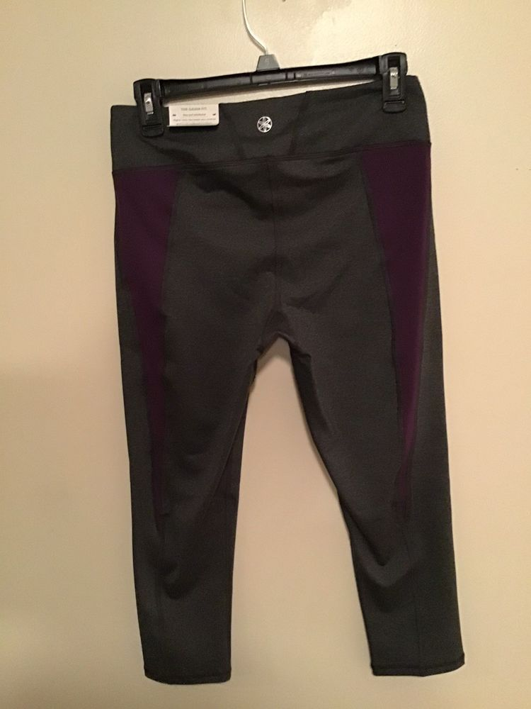 63340cea52090d Gaiam Womens Capri Yoga Pants Size M Gray With Purple Side Stripes New With  Tag #fashion #clothing #shoes #accessories #womensclothing #activewear  (ebay ...