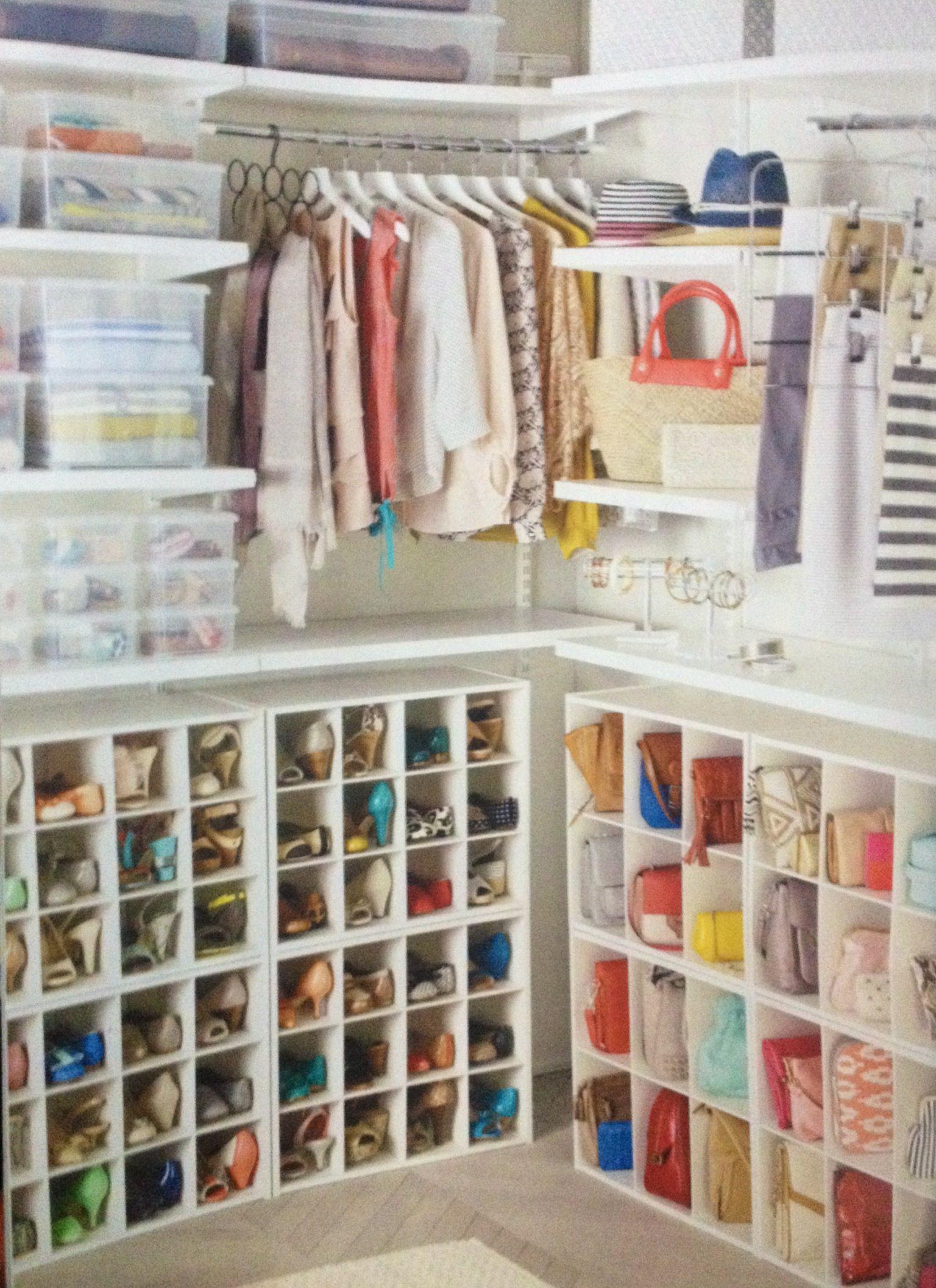 Organized closet home away pinterest armario for Organizadores para closet