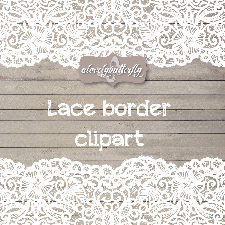 Hochzeit Clipart Spitze Grenze, rustikale Clipart, shabby chic ...