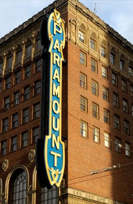 The Paramount Theater Seattle, WA. Many great plays, musicals, and concerts here over the years.