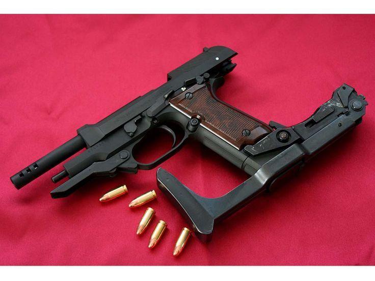Beretta 93R burst fire pistol w/ removable stock   Firearms   Hand