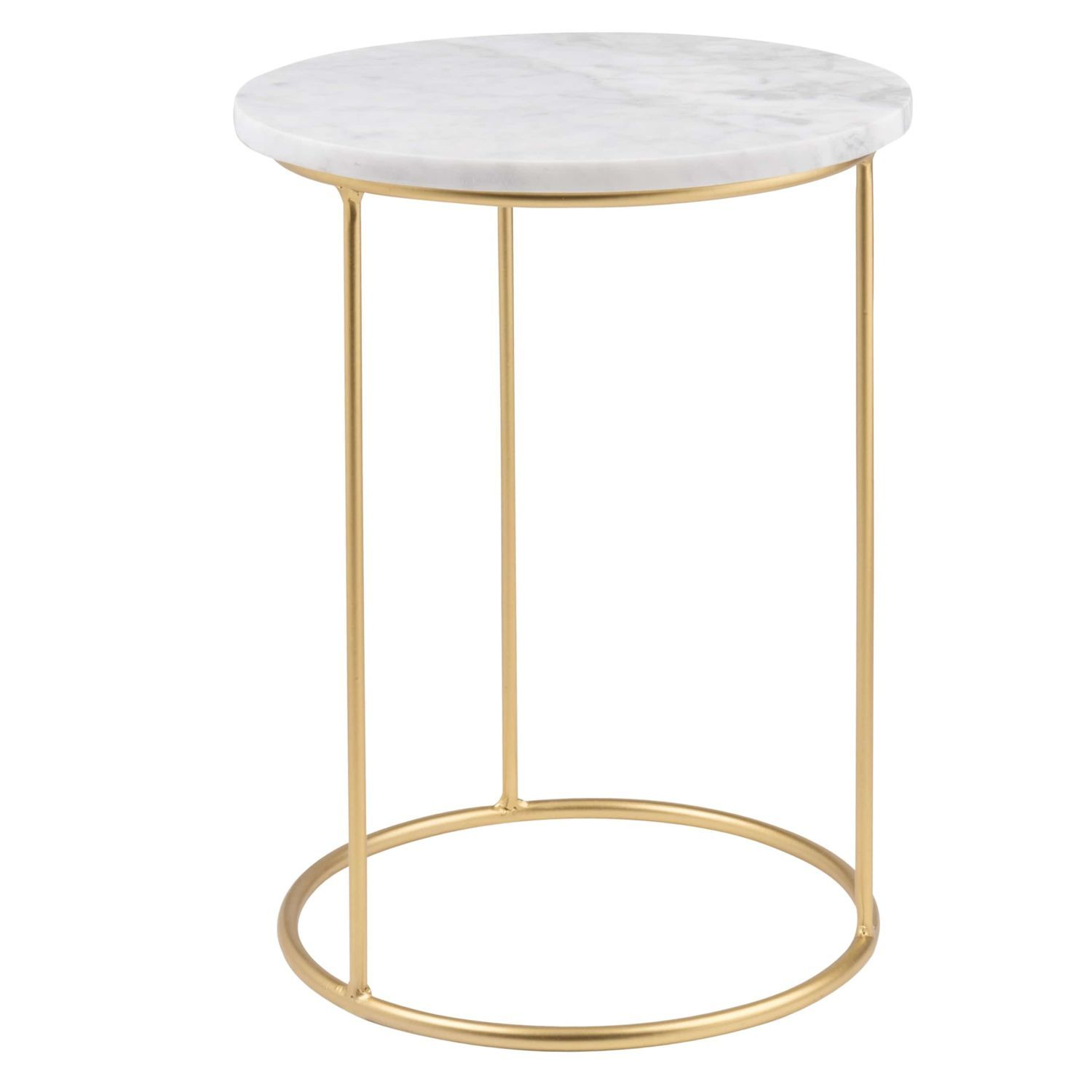 Marble And Matte Gold Metal Side Table Maisons Du Monde Metal Side Table Gold Metal Furniture Side Table