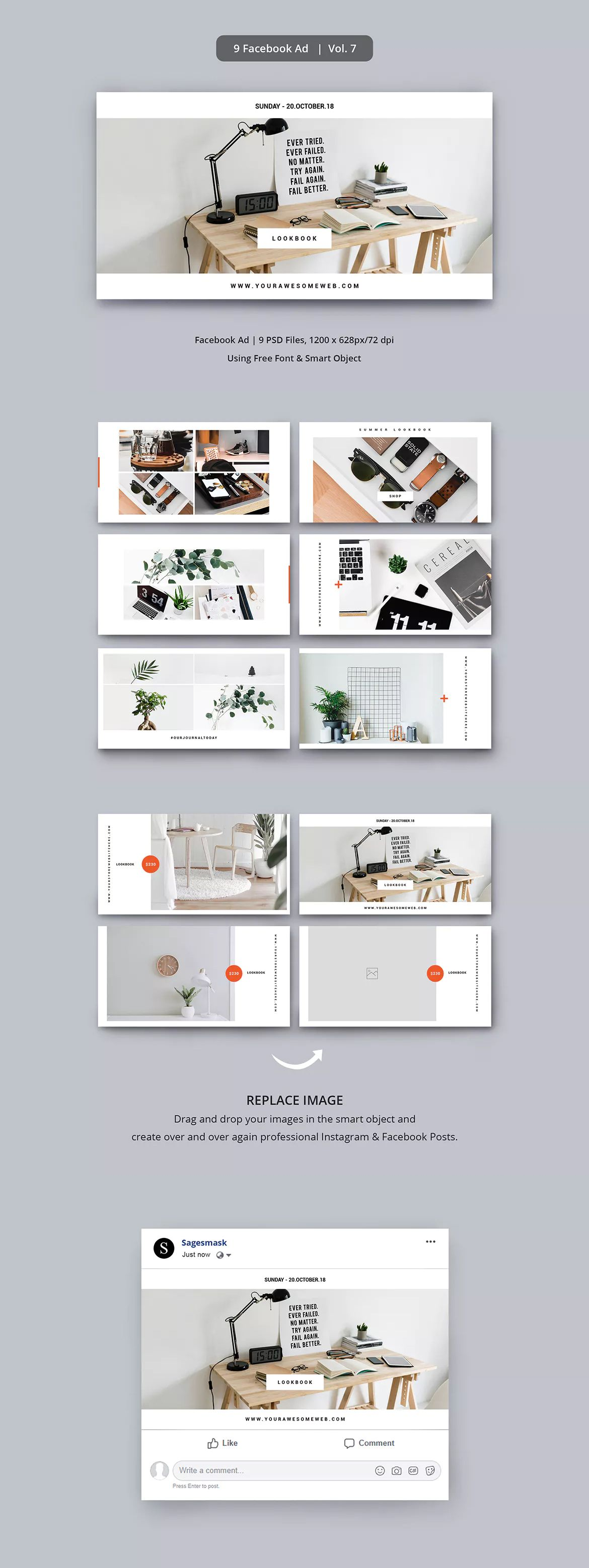 Facebook Ad Vol 7 By Sagesmask On Facebook Ad Template Facebook Ads Design Facebook Ads Inspiration
