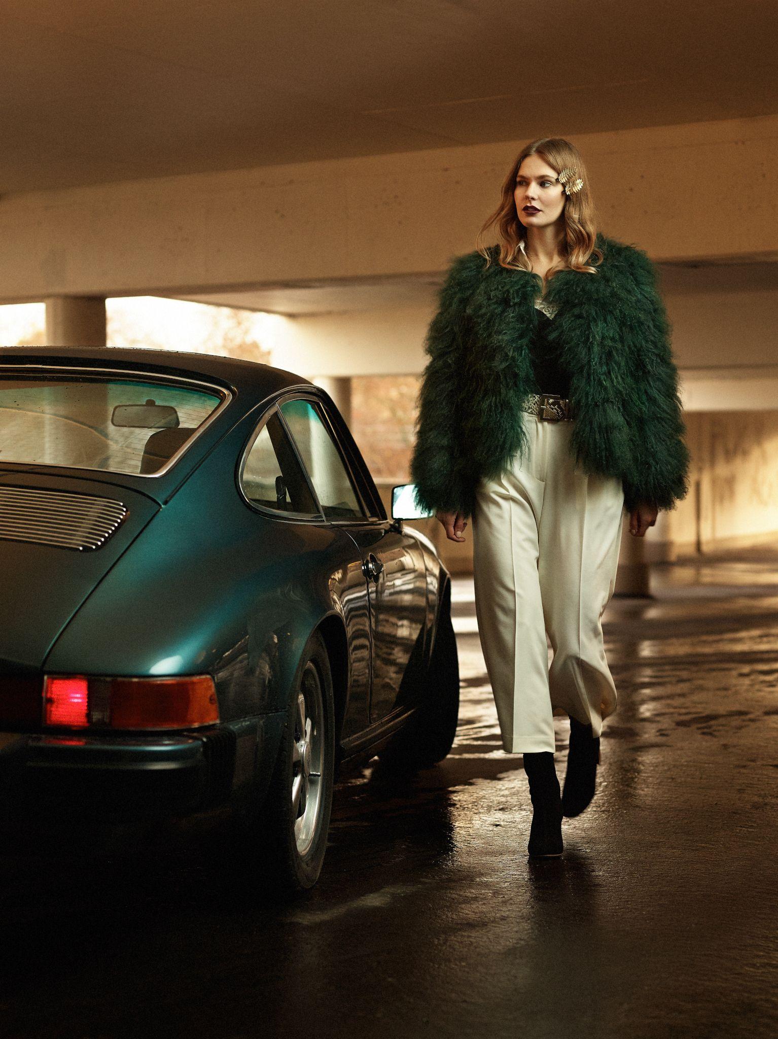 Green. 911. Model: Tove S. Photo by Tobias Bjorkgren for Daisy Beauty magazine 2016.