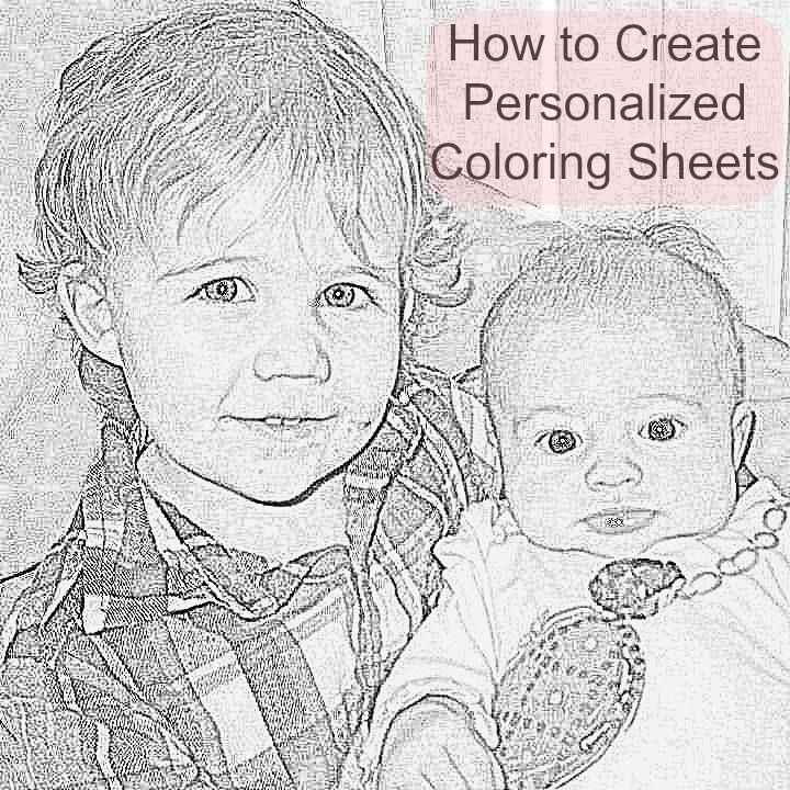 Free Personalized Coloring Sheets DIY #coloringsheets