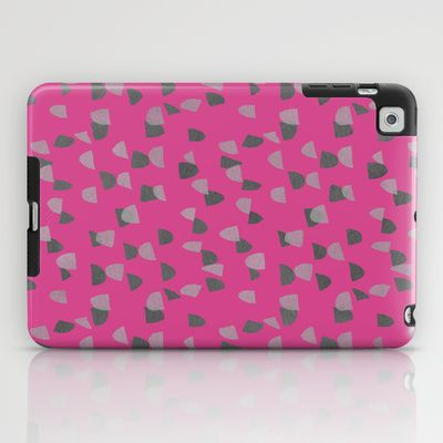 Pink & Gray pattern iPad Case by Georgiana Paraschiv
