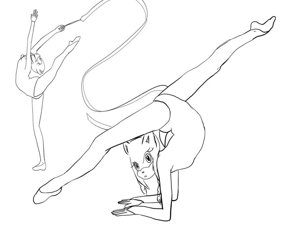 Gymnastics Coloring Pages To Print. Free Printable | coloring_pages ...