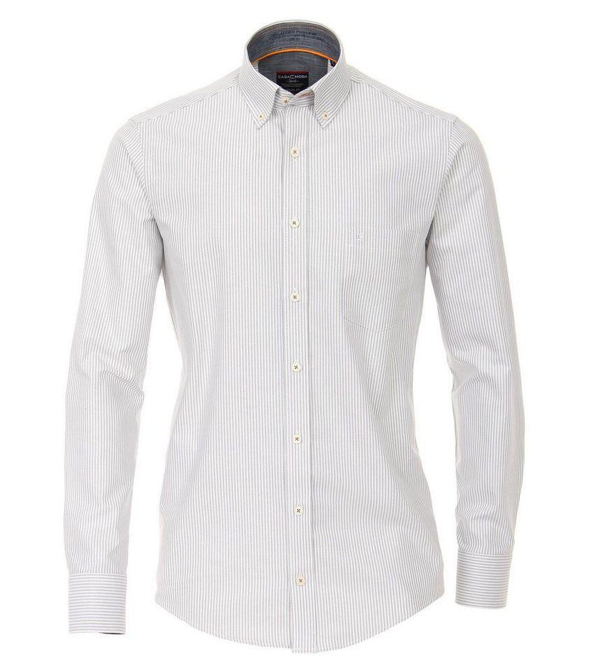 the best attitude ecce0 4d305 CASAMODA Langarmhemd »Oxford Hemd gestreift ...