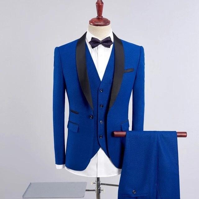 Three Piece Suit Coat Pant Design For Wedding 2020