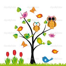 Image Result For Arbol En Primavera Arboles Con Pajaros Arboles De Colores Modelo De Arte