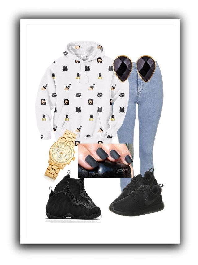 """""""dark emoji"""" by gold-cash on Polyvore featuring Topshop, Aloha From Deer, Michael Kors, Janna Conner and NIKE"""