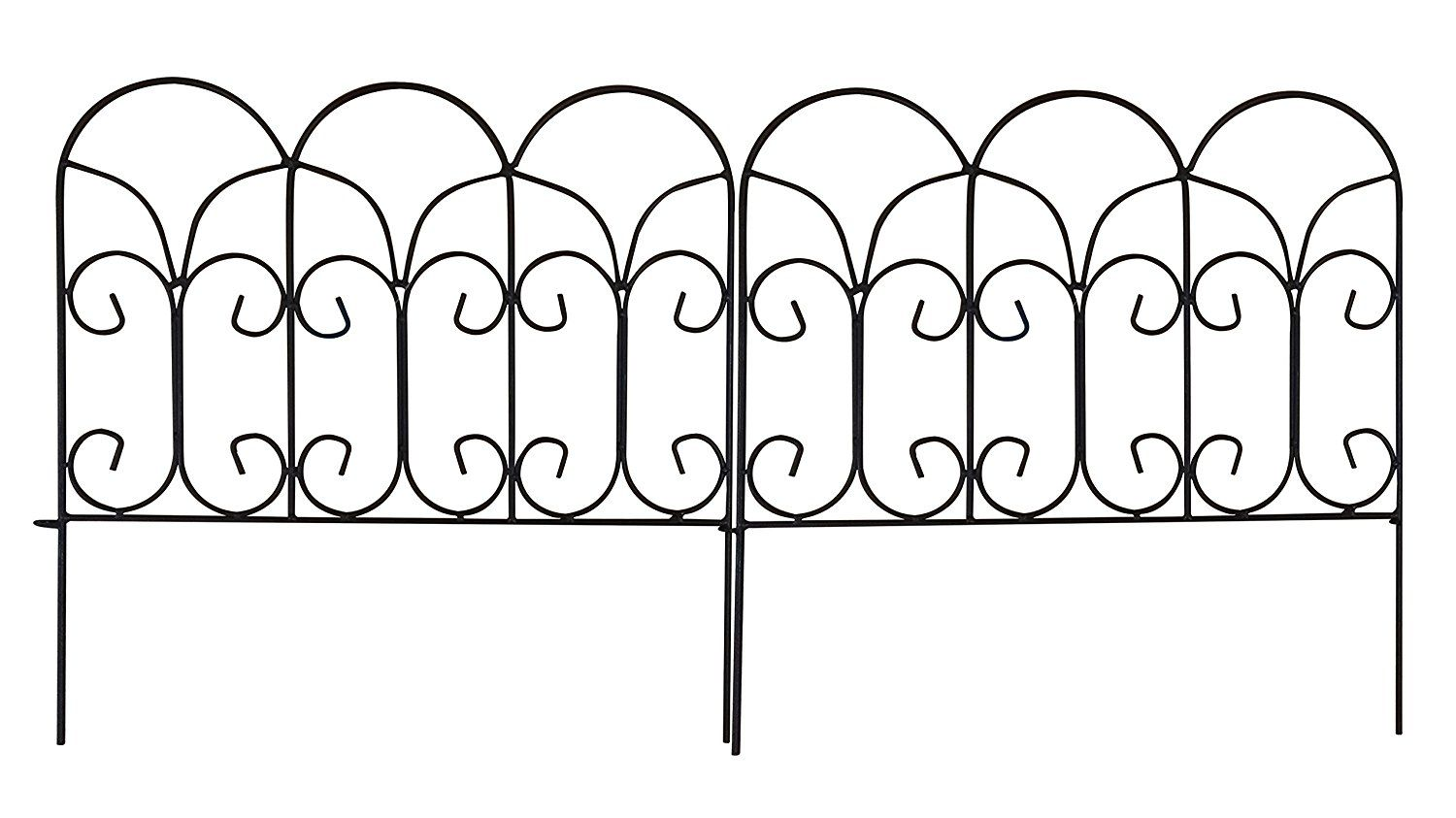 Amagabeli 18 inches by 75 feet rustproof folding metal garden amagabeli 18 inches by 75 feet rustproof folding metal garden border fence 5 panels garden baanklon Choice Image