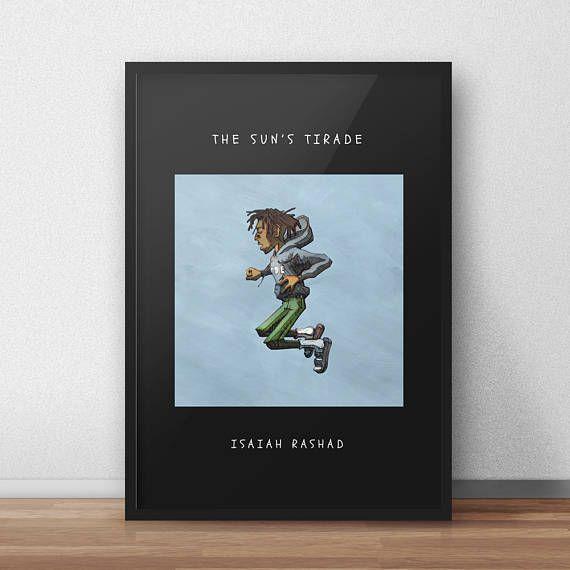 Isaiah Rashad Poster - Digital Printable - The Sunu0027s Tirade Poster - fresh jay z blueprint 3 deluxe edition tracklist