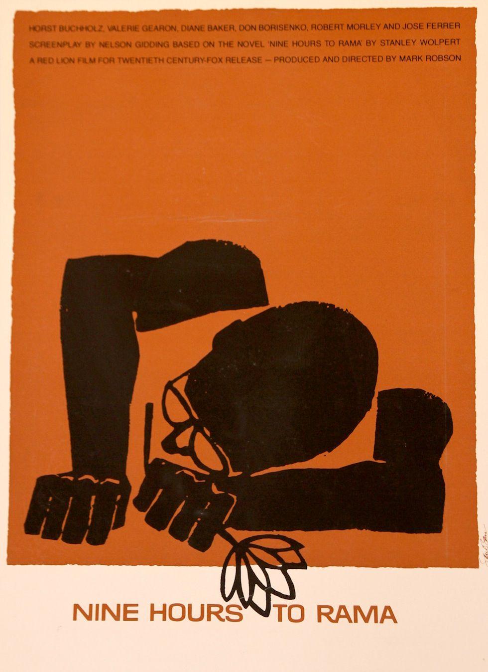 Cinema posters by Saul Bass - Nine hours to Rama, 1963 (VI)