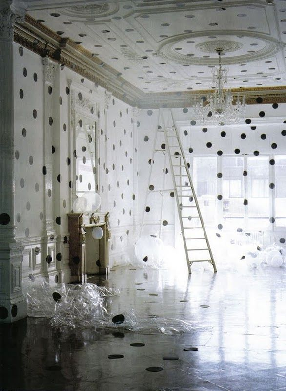 polka dotted room: shot by Tim Walker for Vogue Italia, 2009
