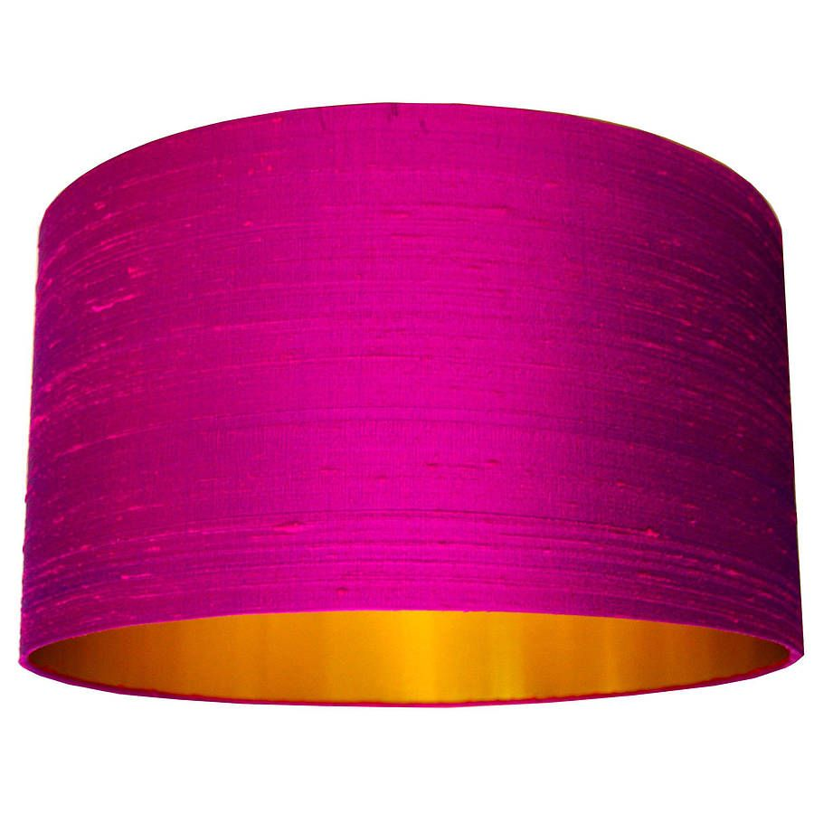 Hot pink silk shade with copper or gold lining hot pink bedrooms silk dupion lampshade in hot pink by love frankie notonthehighstreet aloadofball Gallery