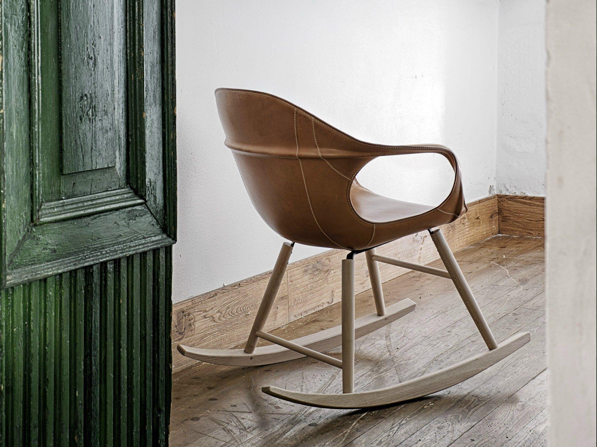 Sedie A Dondolo Depoca : Elephant rocking sedia in cuoio by kristalia design neuland