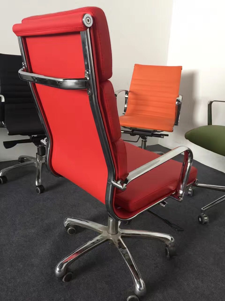 Modern Red Eames Office Chair Reclining Red Office Chair Ergonomic Red Eames Mesh Chair Eames Office Chair Mesh Chair Office Chair