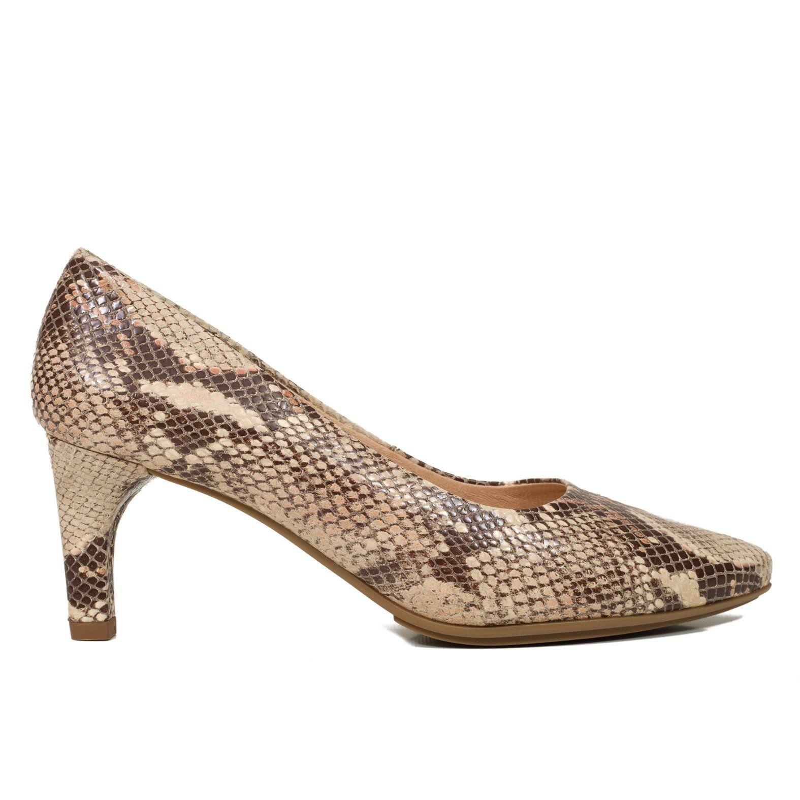 STILETTO – Zapato de vestir serpiente BEIGE   ZAPATOS DE