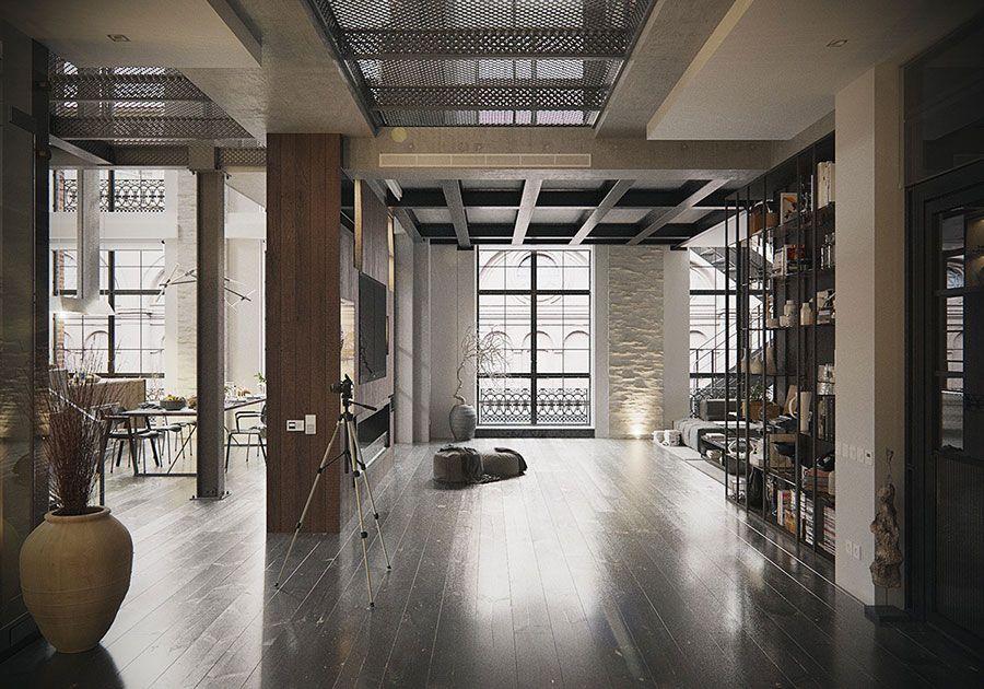 Arredamento Loft ~ Arredamento stile industriale per loft 21 inside pinterest