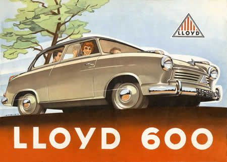 Lloyd 600 1955 With Images German Cars Automobile