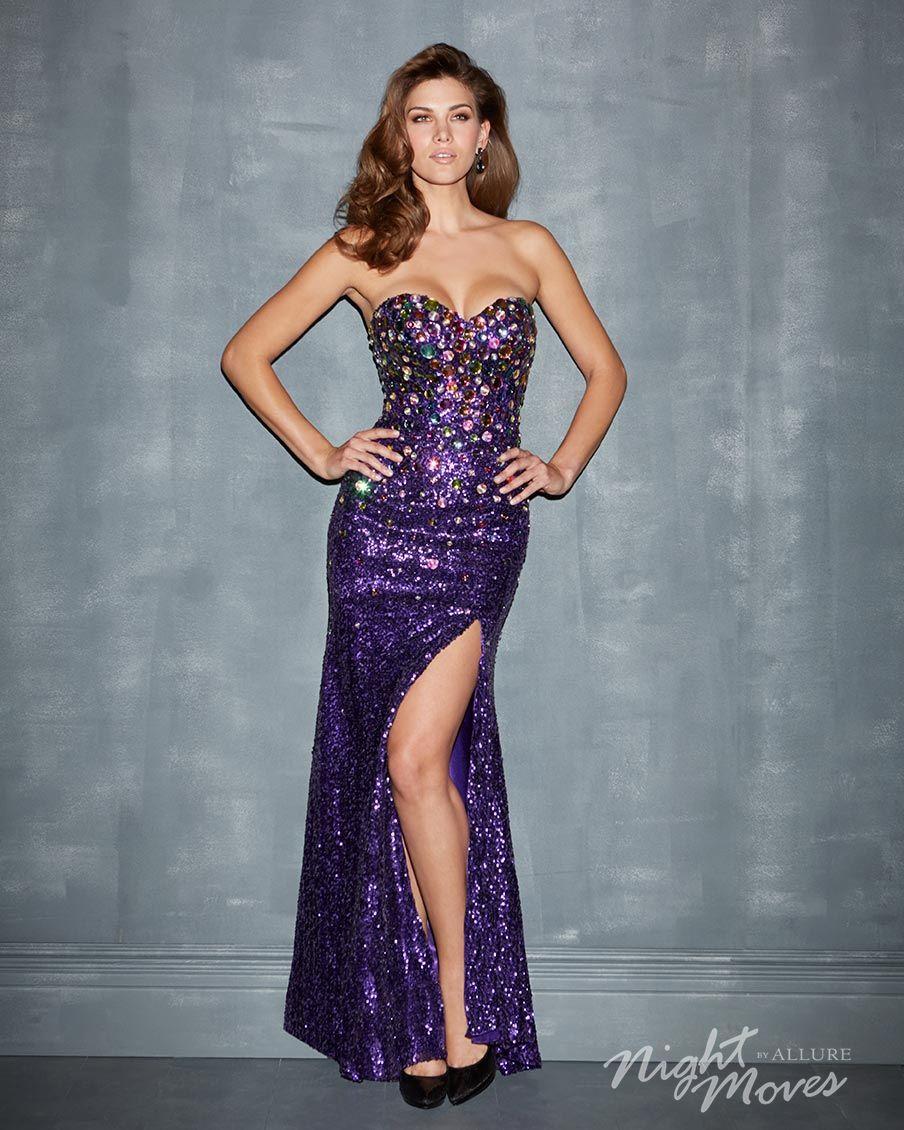 Night Moves Prom 7002 in #purple #prom #ipaprom   Pretty Purple ...