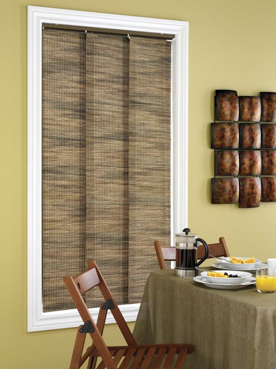 Sliding Panel Track Blinds: Save Space With Panel Track Blind In Small Breakfast Area