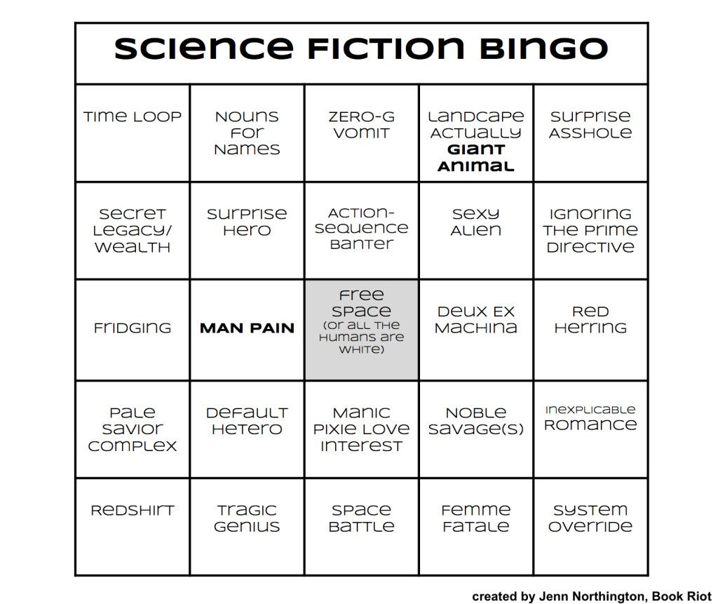 Story Tropes Bingo for (Almost) Every Genre | Science fiction ...
