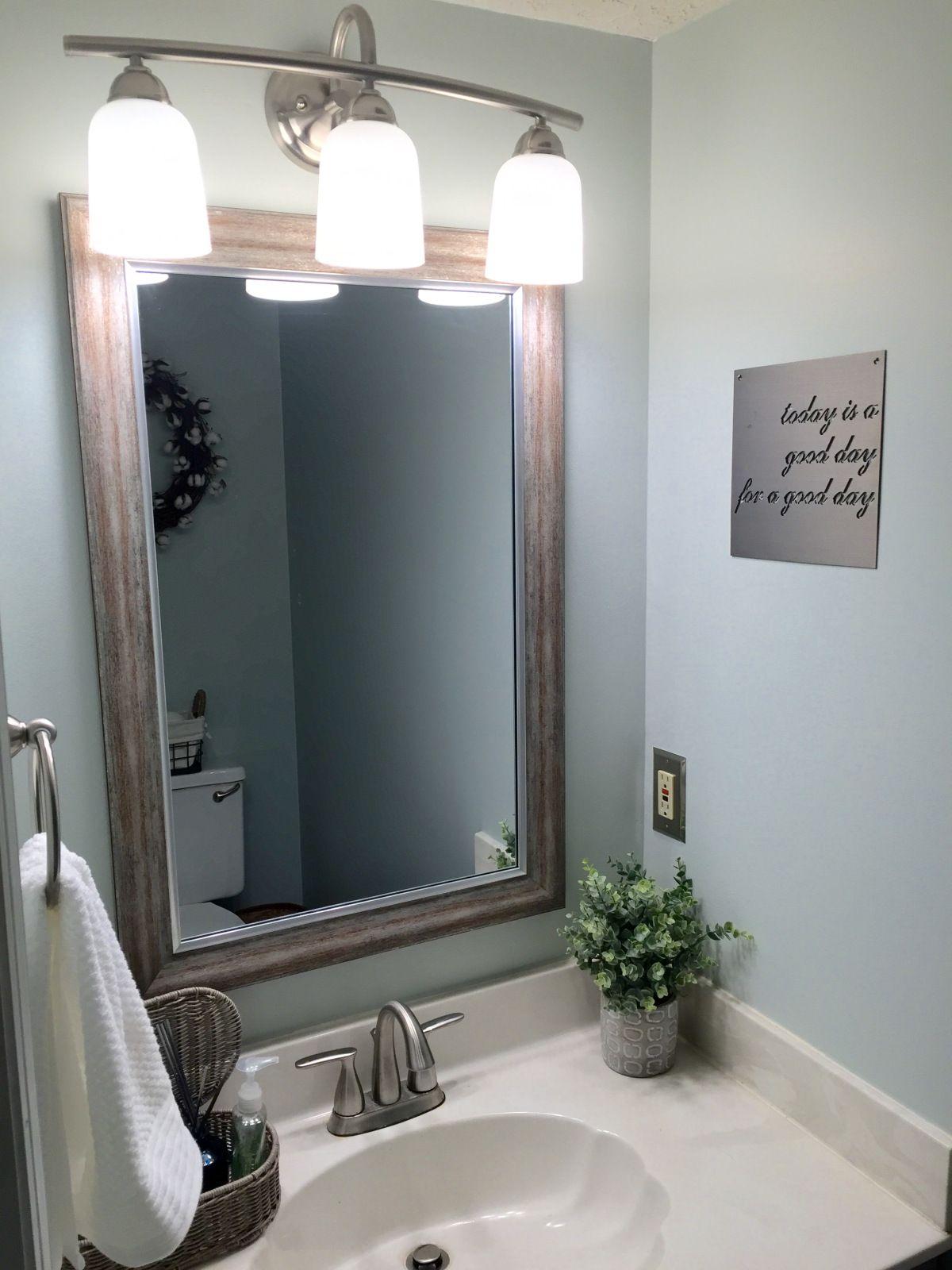 Small Half Bath Update Small Bathroom Decor Small Half Baths
