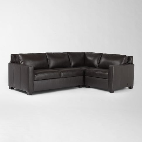 Henry Leather Sectional West Elm South Africa Modern
