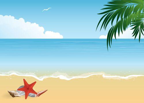 Summer holiday beach creative background vecor 04 - Vector ...