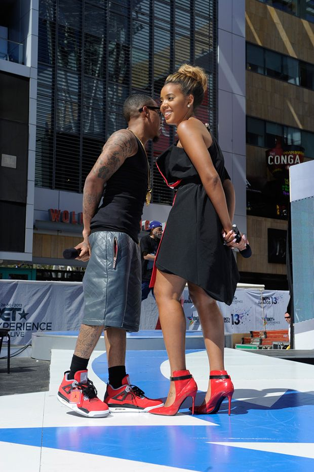 Bow Wow in the Air Jordan 4 Toro Bravo.  c00c21b60
