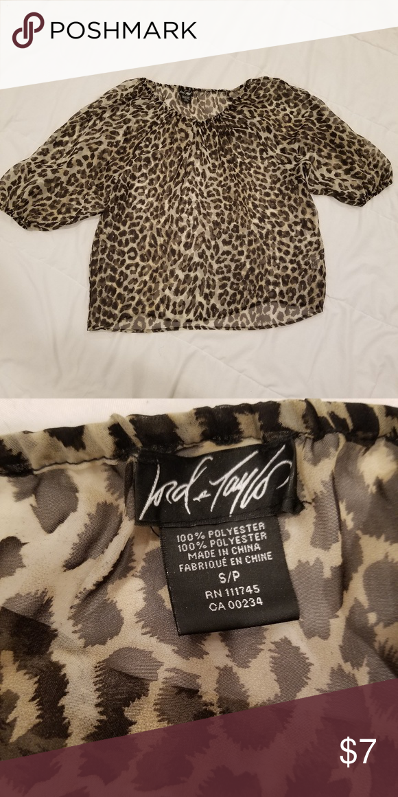 1ef8c1f8d1e3 Leopard print blouse Leopard print blouse is see through in great  conditions. Lord & Taylor Tops Blouses