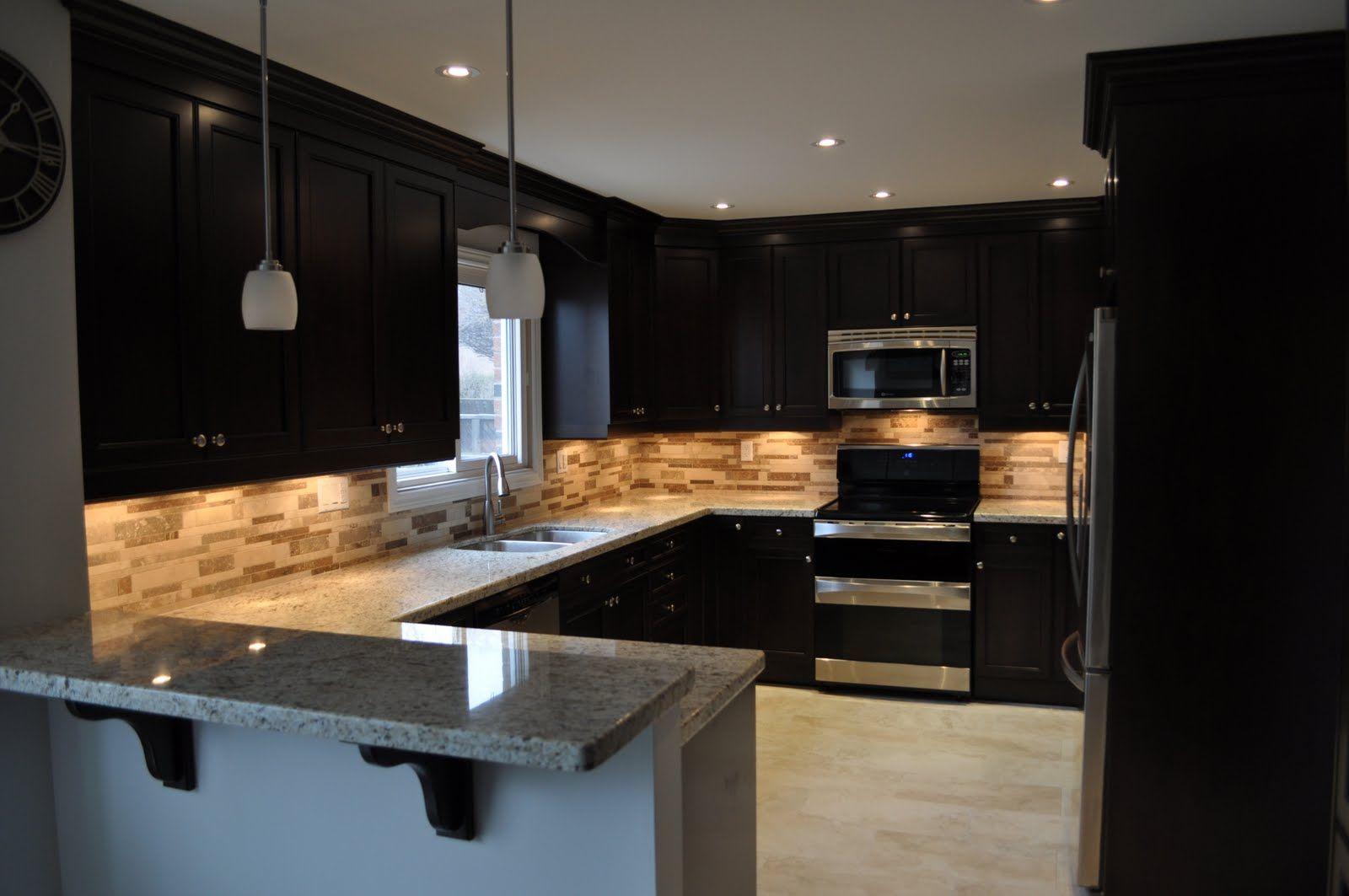 Uncategorized Black Kitchen Designs kitchen endearing u shape design ideas using black wood cabinet along with under