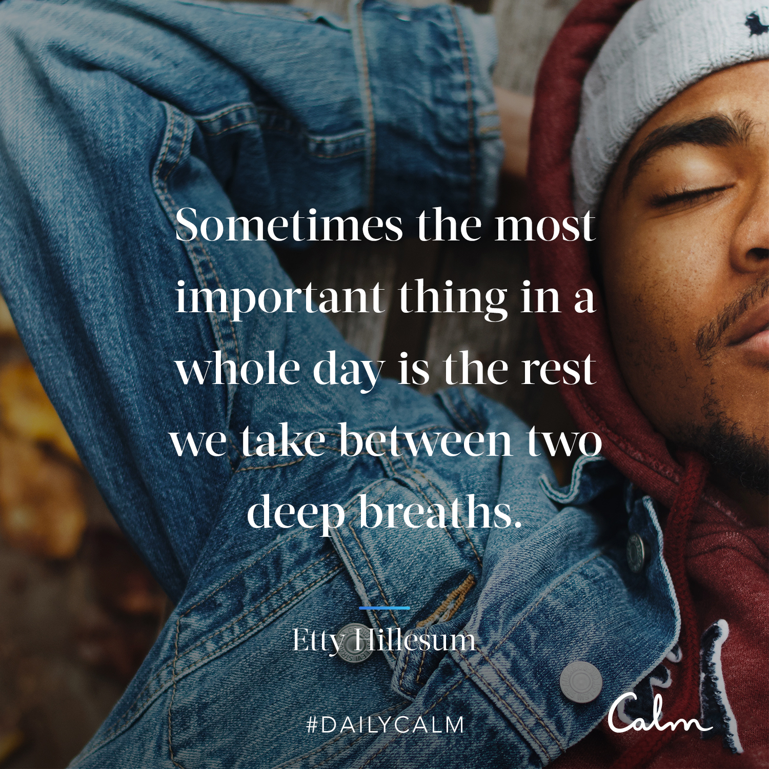 "Daily Calm Quotes ""Sometimes the most important thing in"