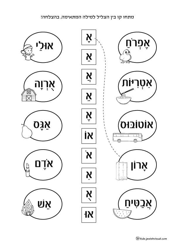 The Letter Aleph Worksheet