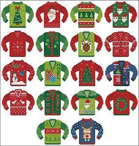 Love it! Ugly Christmas sweater cross stitch pattern. | *Christmas ...