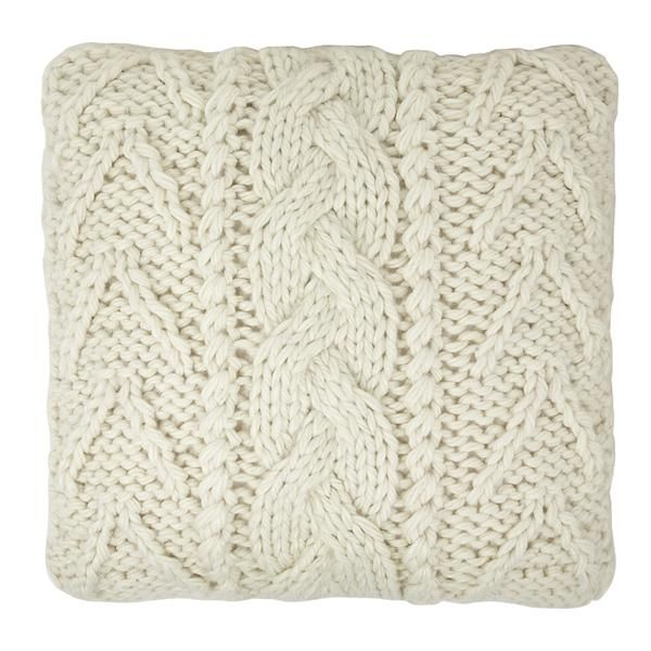 Laura Ashley Chunky Knit Cushion -- I do the same sort of thing from ...