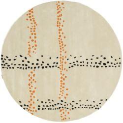 Photo of Delight Handtufted – Orange Rug Ø 200 Oriental Rug, Round Rugvista