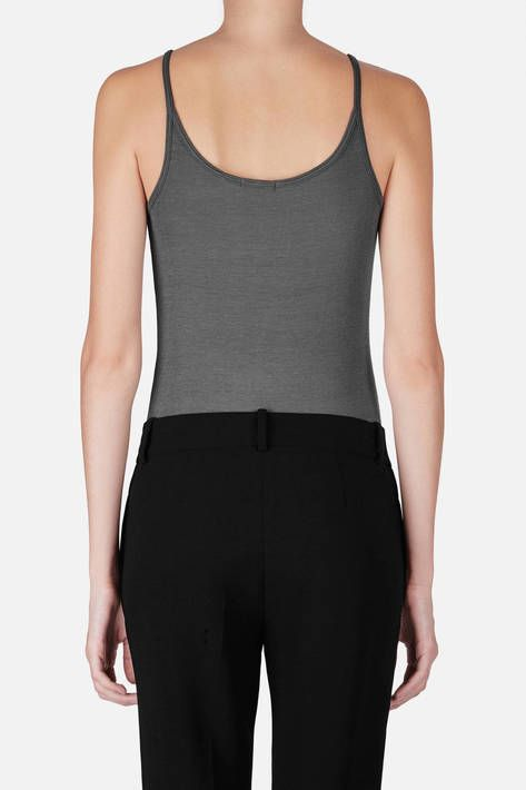 Details make all the difference in this exceptionally soft scoopneck camisole from ATM. Designer Anthony Thomas Melillo goes right to the source—Peru—for his modal, a featherweight fabric derived from the country's abundant beech trees. Here it takes the form of a finely ribbed knit that stretches to hug the body, making this a long and lean layering piece you'll reach for throughout the year.
