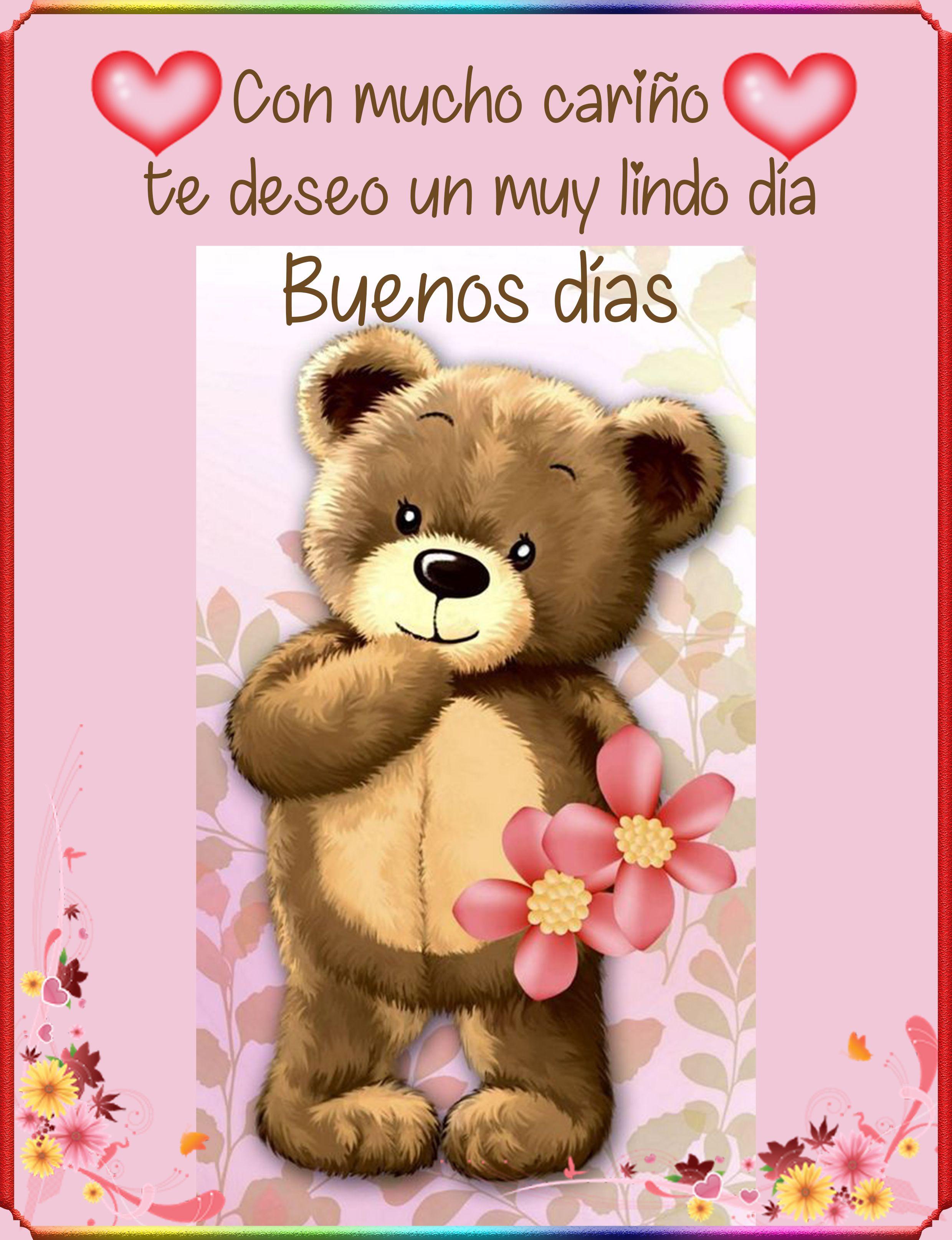 Con Mucho Cariño Te Deseo Un Muy Lindo Día Buenos Días