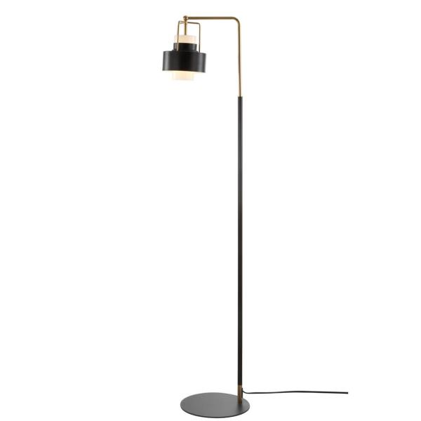 Safavieh Brendon 59 5 In Black Brass Gold Arc Floor Lamp With Black Shade Fll4039a The Home Depot In 2020 Floor Lamp Led Floor Lamp Task Floor Lamp