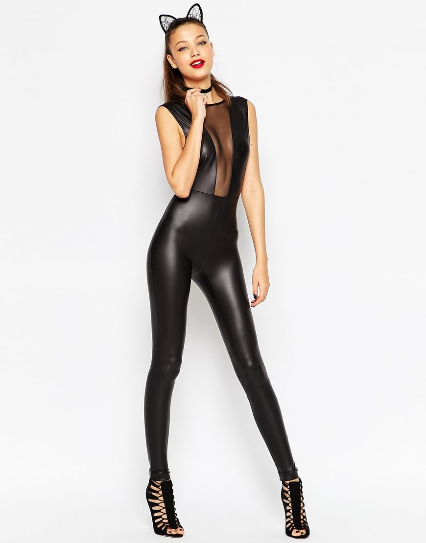 Image 4 of ASOS TALL Sexy Halloween Catsuit