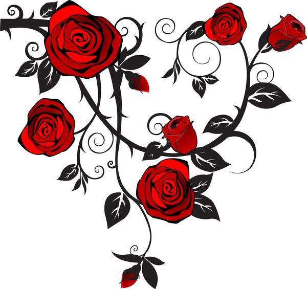 1297668895173806905roses Hi Png 600 565 Vine Tattoos Rose Tattoos Rose Vine Tattoos