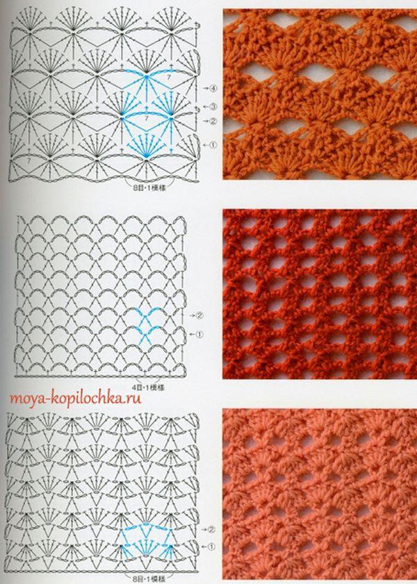 Colección de patrones y motivos, los de punto | mezgimas | Pinterest ...